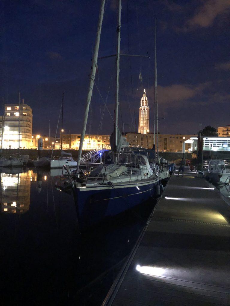 Le Havre bij nacht