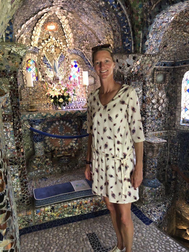 Binnenkant van de kleinste kapel ter wereld